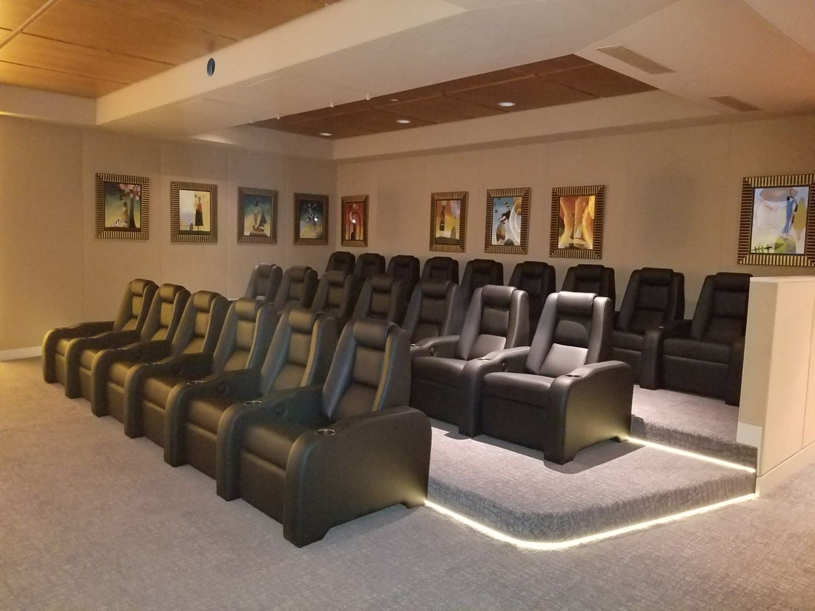 elevated theater seating