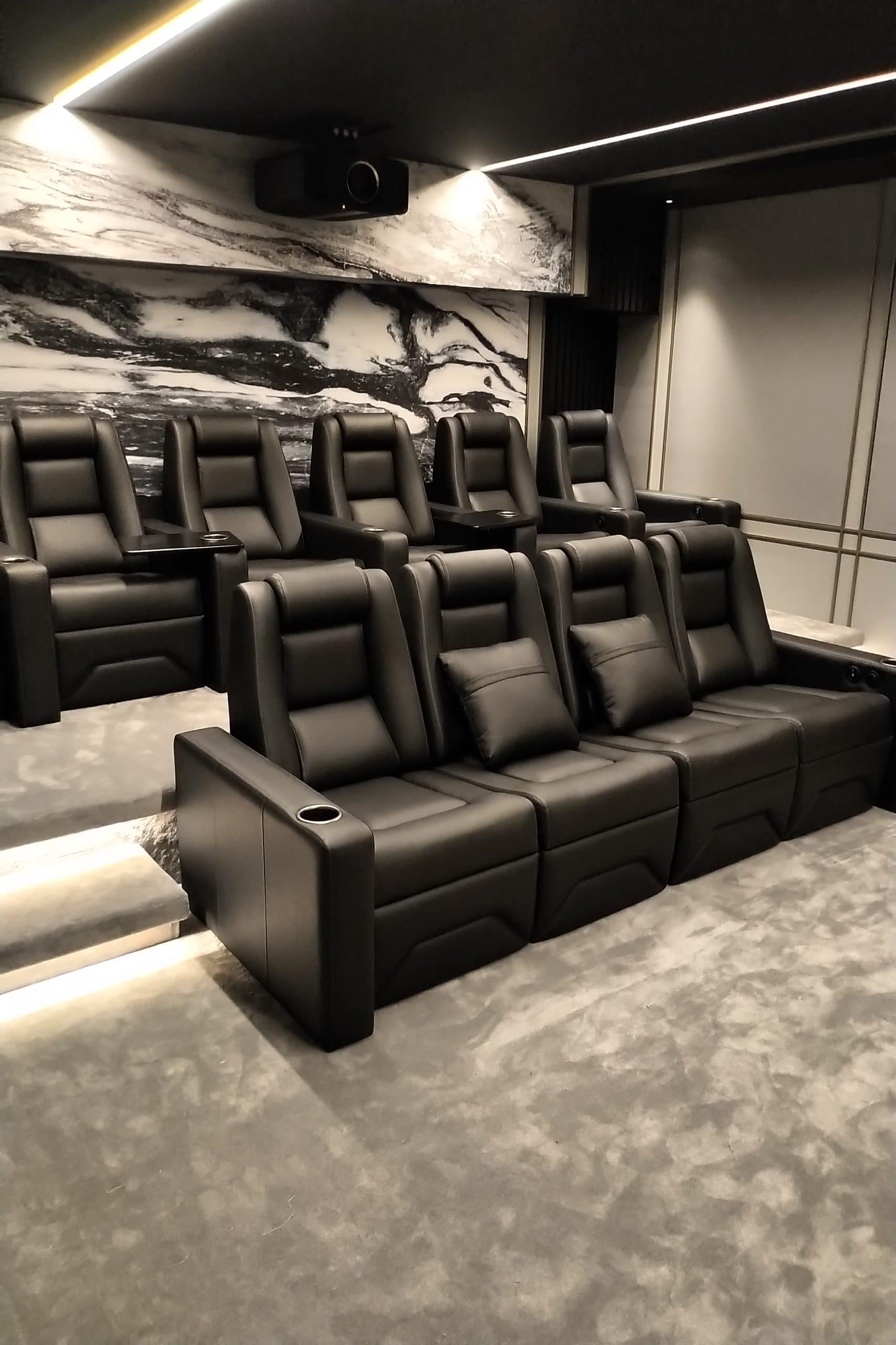 tiered theater seats