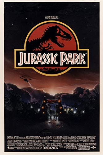 classic poster from the movie jurassic park